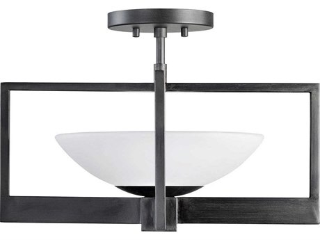 Fine Art Lamps Delphi Outdoor Black Glass LED Ceiling Light FA898482ST