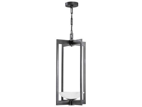 Fine Art Lamps Delphi Outdoor Black Glass LED Hanging Light FA898182ST