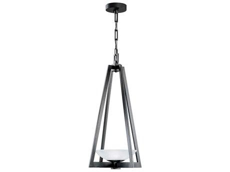 Fine Art Lamps Delphi Outdoor Black Glass LED Hanging Light FA898282ST