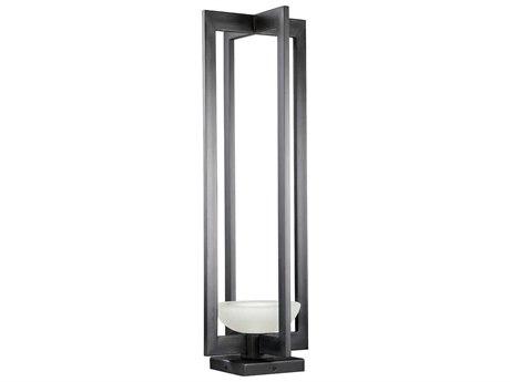 Fine Art Lamps Delphi Outdoor Black Glass LED Post Light FA898380ST