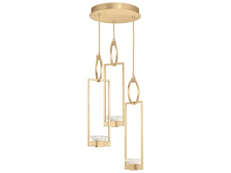 Fine Art Lamps Delphi Gold Three-Light 19'' Wide Pendant Light