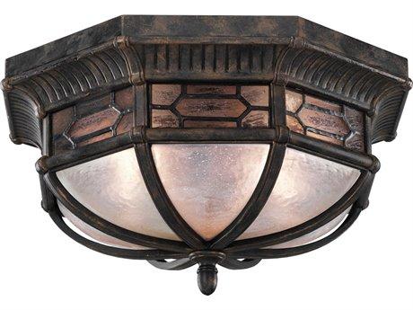 Fine Art Lamps Devonshire Antique Bronze Two-Light 16'' Wide Flush Mount FA4148821ST