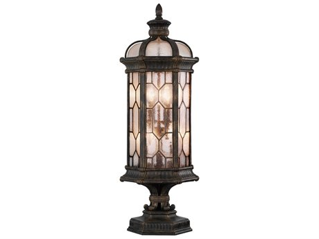Fine Art Lamps Devonshire Antique Bronze Four-Light Outdoor Pier Mount