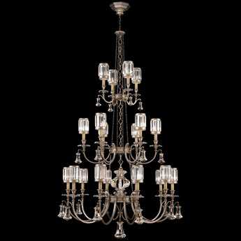 Fine Art Lamps Eaton Place Silver 584840-2ST 20-Light 52'' Wide Grand Chandelier
