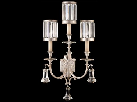 Fine Art Lamps Eaton Place Silver 583150-2ST Three-Light Wall Sconce