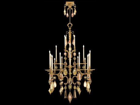Fine Art Lamps Encased Gems 714640-1ST 24-Light 53'' Wide Grand Chandelier