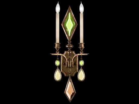 Fine Art Lamps Encased Gems 718150-1ST Two-Light Wall Sconce