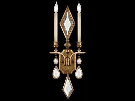Fine Art Lamps Encased Gems 729150-3ST Two-Light Wall Sconce