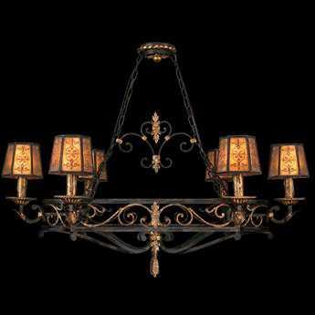 Fine Art Lamps Epicurean 400740ST Six-Light 43'' Wide Grand Chandelier FA400740ST