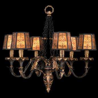 Fine Art Lamps Epicurean 404840ST Six-Light 29'' Wide Grand Chandelier FA404840ST