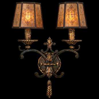 Fine Art Lamps Epicurean 406950ST Two-Light Wall Sconce FA406950ST
