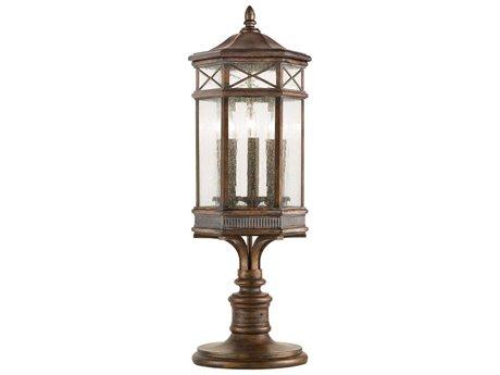 Fine Art Lamps Holland Park 836980ST Three-Light Outdoor Post Light