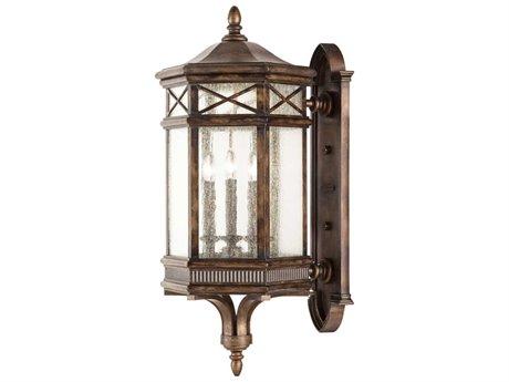 Fine Art Lamps Holland Park 837681ST Three-Light Outdoor Wall Light FA837681ST