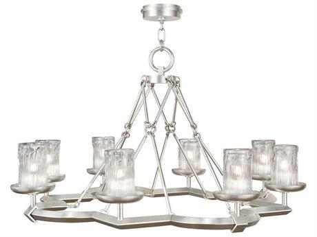 Fine Art Lamps Liaison 860340-2ST Eight-Light 40'' Wide Island Light FA8603402ST