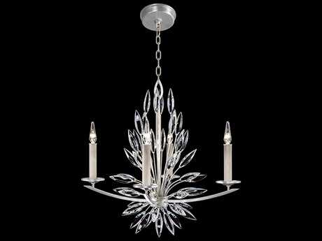 Fine Art Lamps Lily Buds Silver Four-Light 27''Wide Chandelier FA883440ST