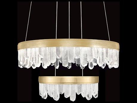 Fine Art Lamps Lior Glass Spires 31'' Wide LED Chandelier FA8896402ST