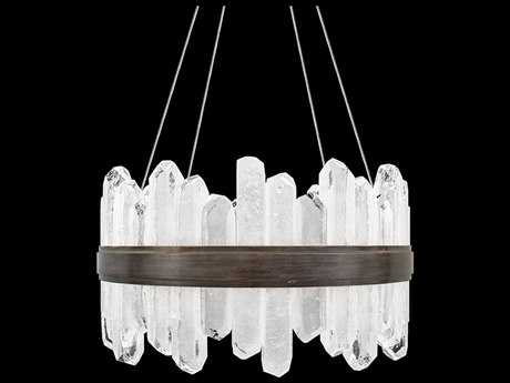 Fine Art Lamps Lior Patinated Bronze with Rock Crystal Glass 24-Light 21'' Wide Pendant Light FA8820403ST
