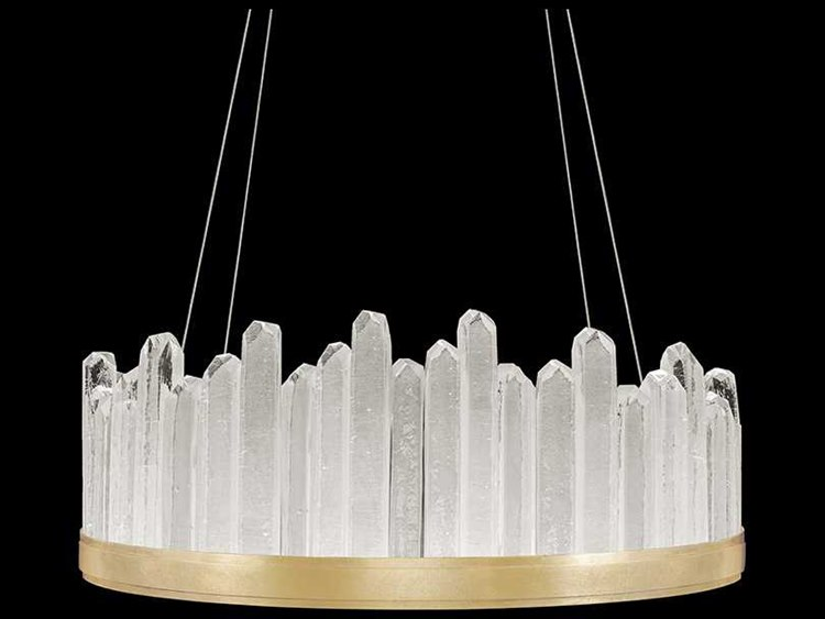 Fine Art Lamps Lior Gold Leaf With Rock Crystal Glass 20