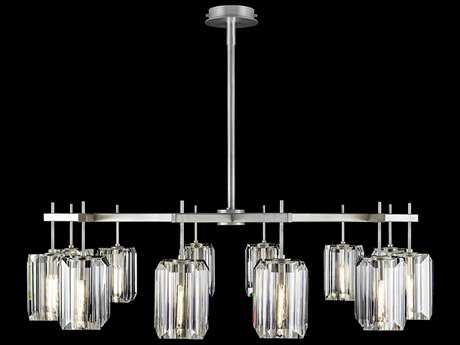 Fine Art Lamps Monceau Platinized Silver Leaf 12-Lights 52.5'' Wide Chandelier FA8751401ST