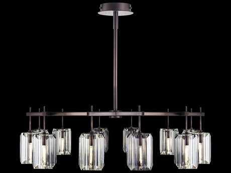 Fine Art Lamps Monceau Patinated Bronze 12-Lights 52.5'' Wide Chandelier FA875140ST
