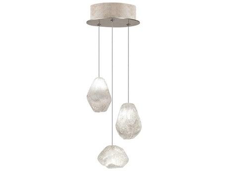Fine Art Lamps Natural Inspirations Led Gold 9'' Wide Glass LED Mini Pendants