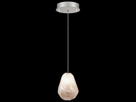 Fine Art Lamps Natural Inspirations Platinized Silver Leaf 5.5'' Wide Mini Pendant Light