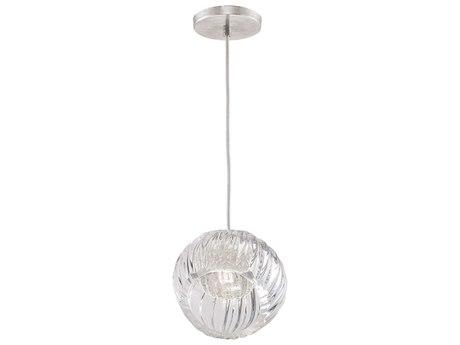 Fine Art Lamps Nest Silver 8'' Wide Glass Mini Pendants