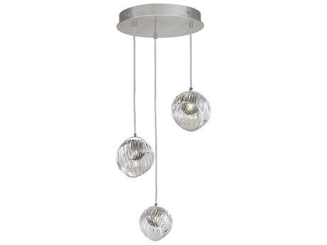 Fine Art Lamps Nest Silver 20'' Wide Glass Pendant