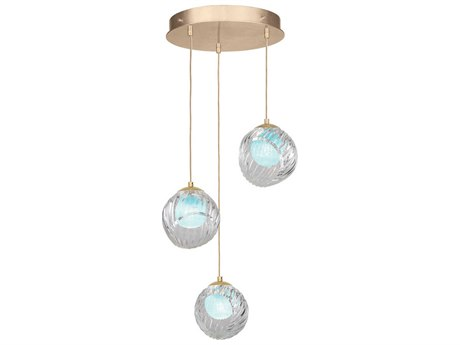 Fine Art Lamps Nest Gold 20'' Wide Glass Pendant
