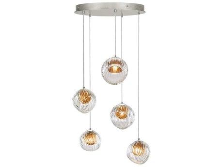 Fine Art Lamps Nest Silver 27'' Wide Glass Pendant