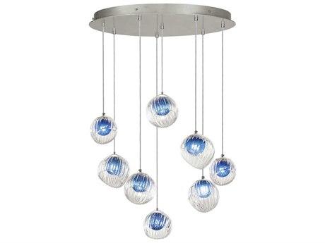 Fine Art Lamps Nest Silver 34'' Wide Glass Pendant