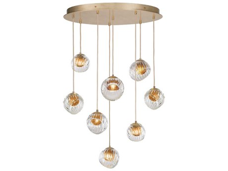 Fine Art Lamps Nest Gold 34'' Wide Glass Pendant