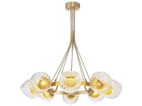 Fine Art Lamps Nest Eight-Light 39'' Wide Glass Pendant