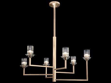 Fine Art Lamp Neuilly Soft Gold Six-Light 36'' Wide Chandelier FA8796402ST