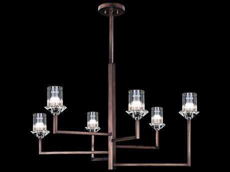 Fine Art Lamp Neuilly Patinated Bronze Six-Light 36'' Wide Chandelier FA879640ST
