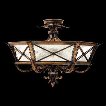 Fine Art Lamps Newport 562240ST Three-Light Semi-Flush Mount Light FA562240ST