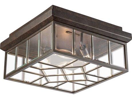 Fine Art Lamps Oxfordshire Bronze Four-Light Outdoor Ceiling Light FA880682ST