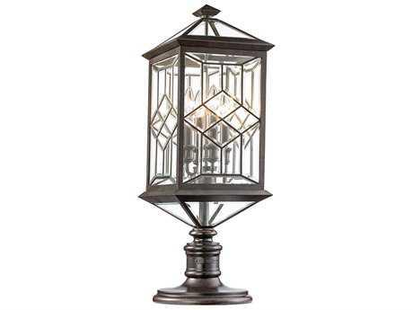 Fine Art Lamps Oxfordshire Bronze Four-Light Outdoor Post Light FA880380ST