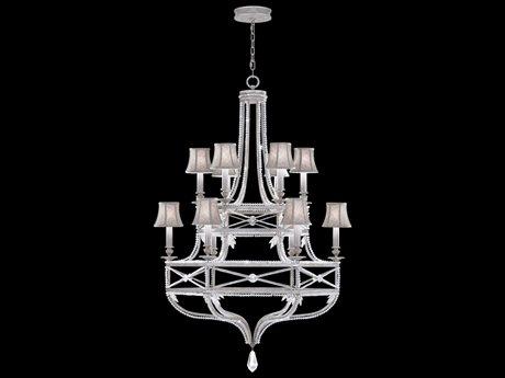Fine Art Lamps Prussian Neoclassic 857640-11ST 12-Light 39 wide Grand Chandelier FA85764011ST