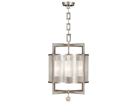 Fine Art Lamps Singapore Moderne Silver 591140-2ST Four-Light Pendant