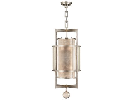 Fine Art Lamps Singapore Moderne Silver 591240-2ST Six-Light Pendant