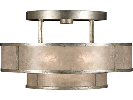 Fine Art Lamps Singapore Moderne Silver 600940-2ST Three-Light Semi-Flush Mount Light FA6009402ST