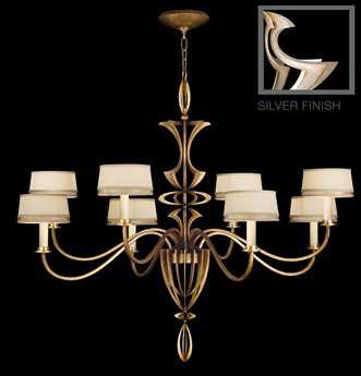 Fine Art Lamps Staccato Silver 786640ST Eight-Light 51'' Wide Grand Chandelier FA786640ST