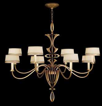 Fine Art Lamps Staccato Gold 786640-2ST Eight-Light 51'' Wide Grand Chandelier FA7866402ST