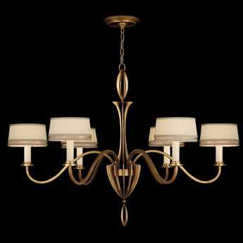 Fine Art Lamps Staccato Gold 786740-2ST Six-Light 43'' Wide Grand Chandelier FA7867402ST