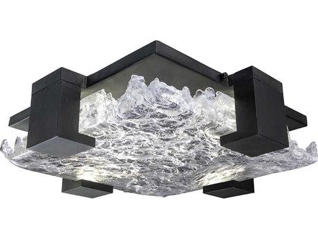 Fine Art Lamps Terra Black 16'' Wide Glass LED Flush Mount Light FA89544011ST