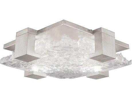 Fine Art Lamps Terra Silver 16'' Wide Glass LED Flush Mount Light FA89544021ST