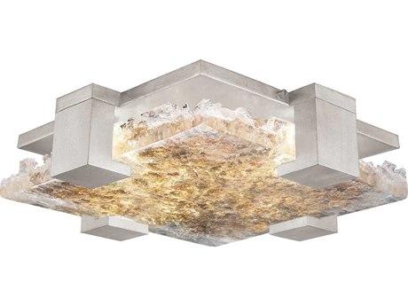 Fine Art Lamps Terra Silver 16'' Wide Glass LED Flush Mount Light FA89544022ST