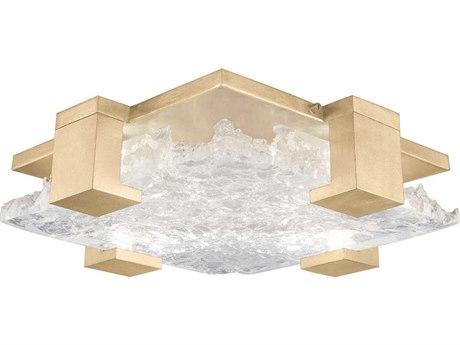 Fine Art Lamps Terra Gold 16'' Wide Glass LED Flush Mount Light FA89544031ST