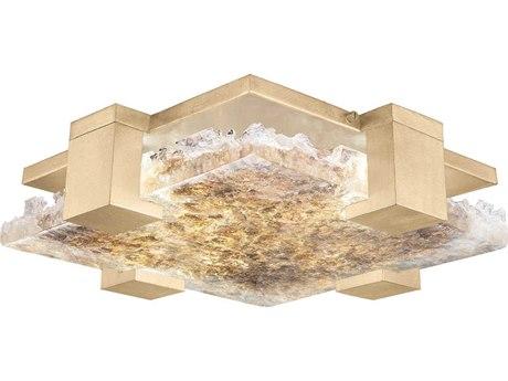 Fine Art Lamps Terra Gold 16'' Wide Glass LED Flush Mount Light FA89544032ST